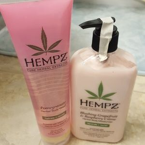 Hempz lotion and body wash